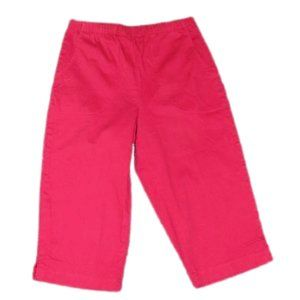  D&CO  Denim&Co Red Capris Size Small